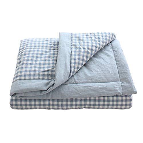 WFFF Couverture lestée pour Pause déjeuner Patchwork Air Conditioner Coton Été Mince Couvertures de Lit Taille Enfant Salon Couvertures lestées, bleu, 150*200cm