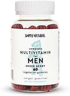 Multivitamin for Men: Vitamin D3, Vitamin B12/B6, Vitamin A, Biotin, Vitamin E, Lycopene for Prostate Health*, Niacin, Certified Non-GMO, Vegetarian/Low-Sugar Gummies; 60 Count, (30 Day Supply)