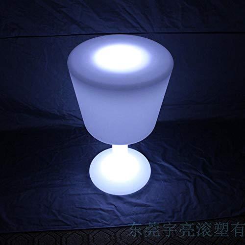JIESIQ Dekoleuchte Außenleuchte Gartenlampe ürfelleuchte,LED leuchtender Barhocker in Weinbecherform,wiederaufladbare Fernbedienung moderner Couchtisch Couchtisch-Bartheke,75cm hoch