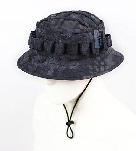 ZAPT Boonie Hat Militär Camo Cap Hunter Sniper Ghillie Bucket Hüte verstellbar Dschungel Busch Hut, Typhon Pattern