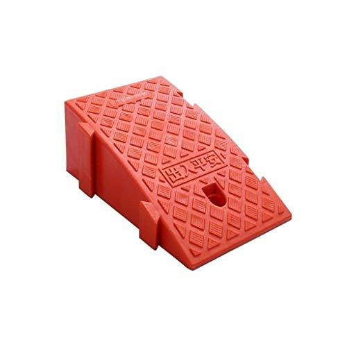Alfombrilla para coche, antideslizante, portátil, triángulo para uso doméstico, garaje, motocicleta, rampas multifunción, tamaño: 25 x 40 x 16 cm, plástico, Rojo, 25*40*16CM