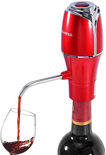 Esonmus Decanter per Vino Elettrico,Distributore di Aeratore per Vino con Pompa Elettrica,fiore-forma design