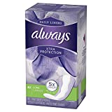 Always Xtra Protection Daily Liners Long Unscented, 40 Count