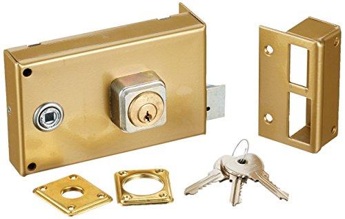 bricard 1821cerradura de sobreponer horizontal fouillot 5pasadores Reversible tirante/poussant 140x 85Dore derecha), color dorado