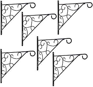 GARDEN KING 12 INCH Designer Hanging Basket Bracket (Set of 6) Wall Hanging Planter Hook