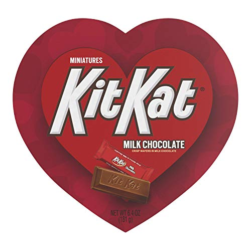 Kit Kat, Chocolate Wafer Miniatures Candy Valentines Heart Box, 6.4 Oz.