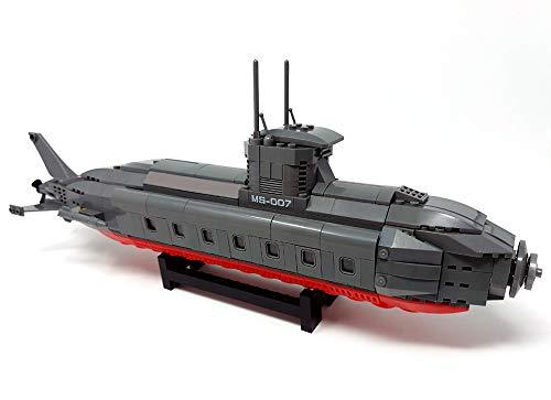 Modbrix Bausteine Uboot Atom U-Boot, 40 cm, 502 Klemmbausteine