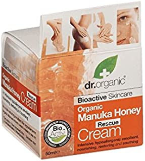Dr有機マヌカハニーレスキュークリーム - Dr Organic Manuka Honey Rescue Cream (Dr Organic) [並行輸入品]