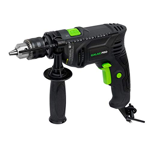 Hammer Drill 45A Corded Drill GALAX PRO Impact Drill 03000RPM Electric Drill with 1/2#039#039 Keyed Chuck and Depth Gauge for Drilling Wood Steel Masonry Cement Concrete_GP57325