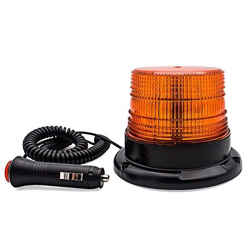 Beacon LED Luz ámbar parpadeante luz estroboscópica Carretilla elevadora coche de seguridad de emergencia Advertencia 12-80V luz para ATV Camiones tractores