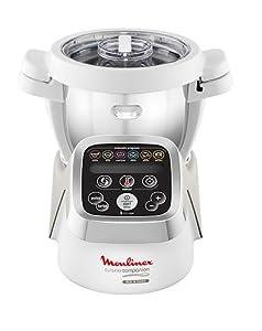 Moulinex Cuisine Companion - Robot de cocina (Plata, Color blanco) [Versión italiana]