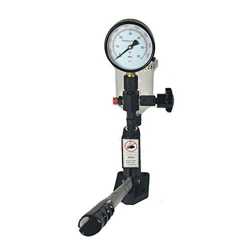 Vogvigo Kraftstofftest 400Bar / 6000PSI Diesel-Hochleistungs-Einspritzdüsentester mit doppelter Skala zum Einstellen des Einspritzdüsendrucks und zum Testen
