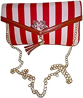 Magnetic zipper luxury red checked casul purse and hand bag for girls/women