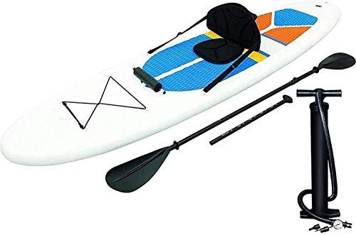 JNWEIYU PVC Inflable Stand Up Paddle Board, Cepillado Tabla de Surf al Aire Libre vadear Deportes Windsurf, Anchas niños y Adultos Stance (3,05 m x 81 cm x 10 cm)