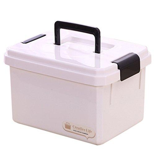 Teakpeak Erste Hilfe Koffer Groß, 10L Erste Hilfe Box tragbar Hausapotheke Aufbewahrung Hausapotheke Box Gross -L