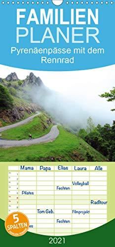 Pyrenäenpässe mit dem Rennrad 2021 - Familienplaner hoch (Wandkalender 2021, 21 cm x 45 cm, hoch)