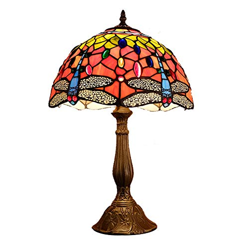 LG Snow Lámpara de mesa romántica de libélula decorativa para dormitorio, mesita de noche, sala de café, estudio, arte creativo lámpara de mesa