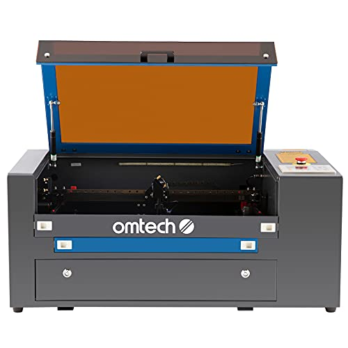 OMTech 50W CO2 Laser Engraver and Rotary Axis, 50W Laser Cutter Machine, 12x20 Inch Laser Engraving Machine with 2 Way Pass Air Assist RDWorks, Laser Cutting Machine for Wood Acrylic More(MF-1220-50R)