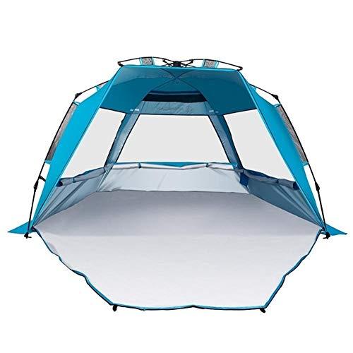 Ai-lir Event Zelt UV-Sonnenunterkunft Winddicht wasserdicht atmungsaktiv Portable Außendrampment Beach Zelte für 3-4 Personen (Color : Blue)