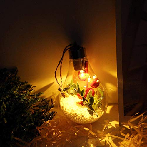 JALAL Christmas Decorative LED Light Lamp, Button Battery Copper Wire Spherical Bulb Suspension