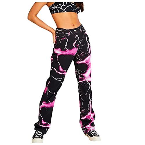 Briskorry Damen Y2K Jeans Teenager Mädchen Print...