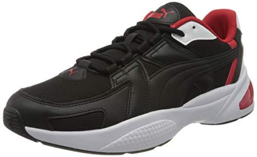 PUMA Ascend, Zapatillas para Hombre, Negro Black White/High Risk Red 04, 46 EU