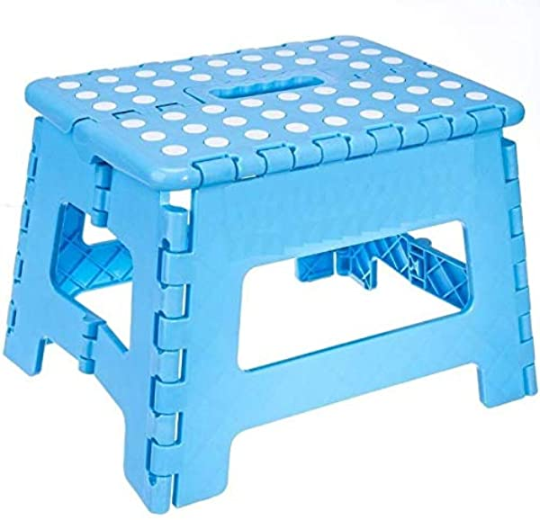 Blue Home Folding Step Stool For Adults 12 Heavy Duty Plastic Stool