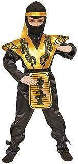 Dress Up America Gold Ninja Costume - Fierce Samurai Warrior Costume for Boys and Girls