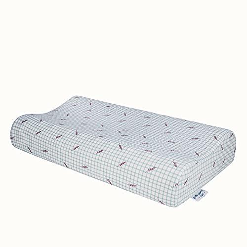MRBJC Almohada de espuma de memoria para niños Almohada de látex natural almohada de dormir plana para almohada de niño para dormir blanco 44x27x6cm