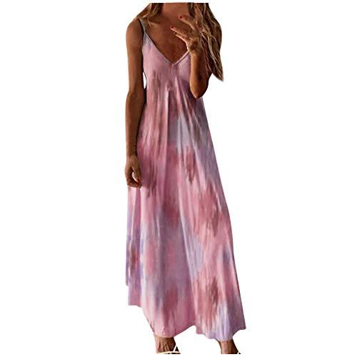Vestido Largo para Mujer Vestido de Playa para Mujer Sexy Vestido de Playa con Boho con Cuello en V Falda de Playa