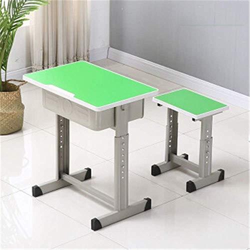 Decoración de muebles Juego de escritorio y silla para niños Juego de escritorio y silla grueso para estudiantes de primaria y secundaria Clase de consejería escolar Clase de capacitación Escritori
