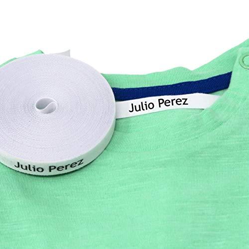 100 Etiquetas para ropa personalizadas. Etiquetas de tela con CERTIFICADO ECOLÓGICO ideales para tus niños. Etiquetas termoadhesivas para marcar la ropa con plancha.