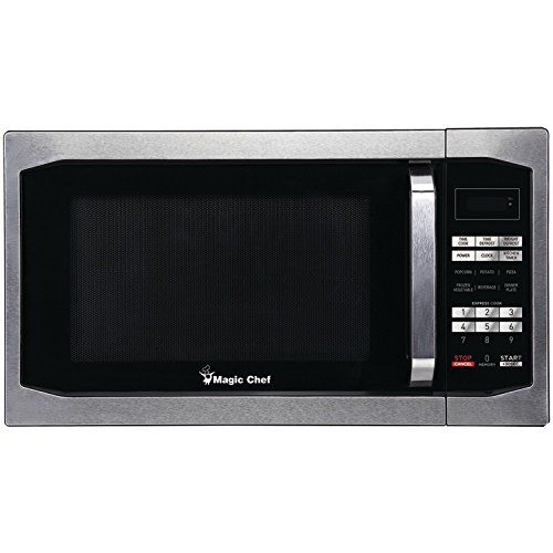 Magic Chef - MCM1611ST 1.6 cu ft Countertop Microwave, Stainless Steel