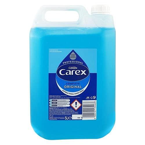 Carex Antibacterial Original Hand Wash 5 Litre, Pack of 2 Liquid Soap Refills, Bulk Buy Hand Soap...