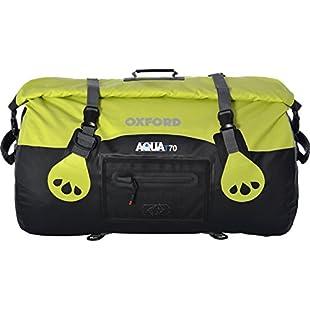 Oxford Unisex Aqua T-70 Roll Bag, Black/Fluorescent, 70 Litre