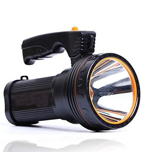 Roawon Ricaricabile Super LED Luminoso Searchlight Spotlight Torcia Flashlight Lanterna con Sharp Luce, 9000ma 100W