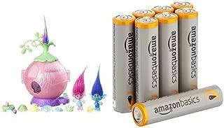 DreamWorks Trolls Poppy's Coronation Pod with Amazon Basics AAA Batteries Bundle
