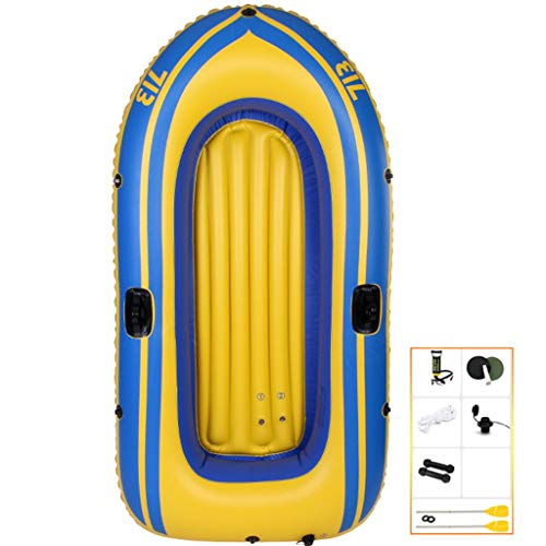 YUESFZ Kayak gonfiabili Kayak Sit On Top Gommone Spesso Antiusura, 4 Canoe A Camera d'Aria Indipendenti, Gommone per Piscina All'aperto (Color : Yellow-6FT-2 People B)