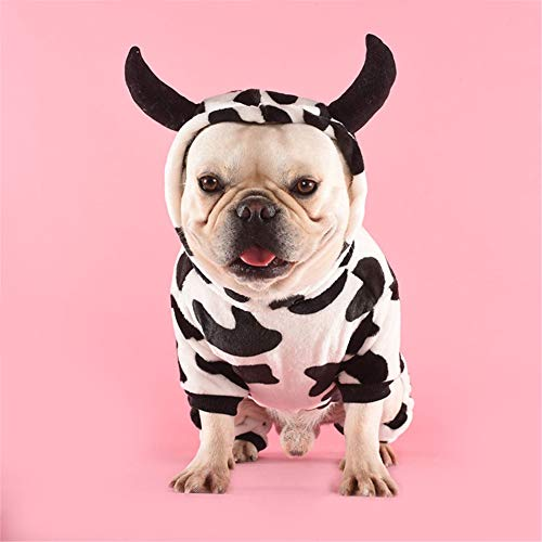 HBHUBO Vestiti per Animali Domestici per Cani Vestiti per Cani e Proprietari, Vestiti Invernali a Quattro Zampe Caldi per Cani di Piccola e Media Taglia per Cani Vestiti per Demoni Latte S-XL,XL