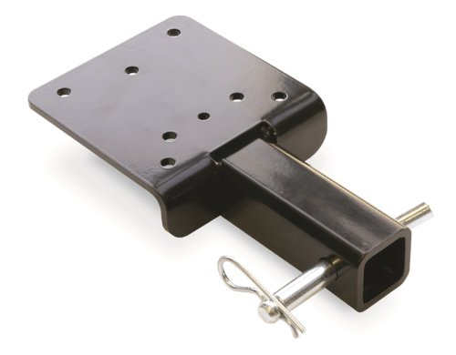 WARN 68531 Winch Trailer Hitch Adapter Mounting Plate, Black