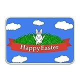 Conejito de Pascua en la Puerta de la Hierba Tapete Delantero Entrada de Bienvenida Felpudo 16'24' alfombras al Aire Libre alfombras de Comedor