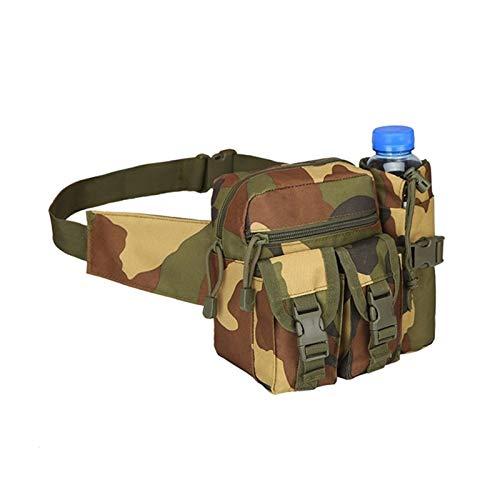 DWSLY De múltiples Fines Bolsa táctica Bolsa Militar Cintura Cintura Bolsa pequeña Bolsillo Running Bolsa al Aire Libre Viaje Camping Bolsas para Escalada al Aire Libre (Color : Concrete Jungle Camo)