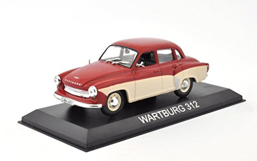 DieCast Metall Modellauto 1:43 DDR Wartburg 312 Limousine rot creme