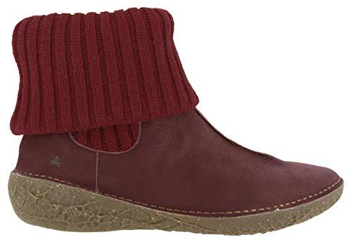 El Naturalista Damen Stiefeletten BORAGO, Frauen Ankle Boots, Stiefel halbstiefel Bootie flach weiblich Lady Ladies Women's,Rot(Rioja),37 EU / 4 UK