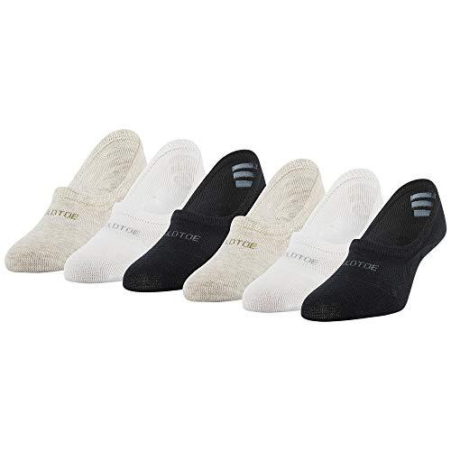 Gold Toe Women's Everyday Ballerina Socks, 6-Pairs, Black Assorted, Medium