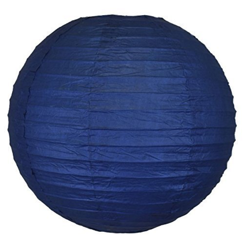 """Just Artifacts Navy Blue Chinese/Japanese Paper Lantern/Lamp 12"""" Diameter - Just Artifacts B..."""