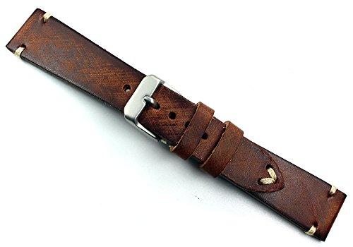 Sulla Herren Leder Uhrenarmband Vintage gebürstet