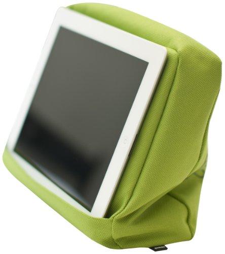 Bosign Tabletpillow Hitech 2 per iPad/Tablet PC, Cuscino da Divano/Letto con Tasca Porta Tablet, Verde/Nero