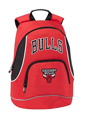 Chicago Bulls NBA Zaino Americano 2 Cerniere - Scuola/Tempo Libero cm 30 x 41h x 17 circa