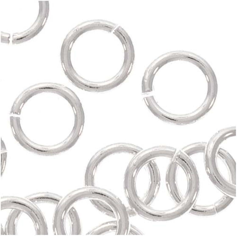 (50) 5mm Open Jump Rings Sterling Silver 19 gauge 36002